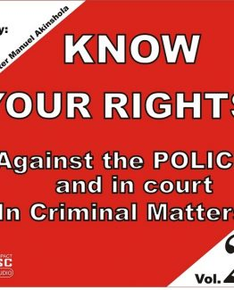 Know Your Rights against the Police - Audio CD
